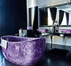 """329 Likes, 4 Comments - We are the Hellaholics (@hellaholics) on Instagram: """"Amethyst bath tub anyone? 😍 😍 😍. Imagine waking up to this purple beauty ✨ 🔮. By arcamosaico.com…"""""""