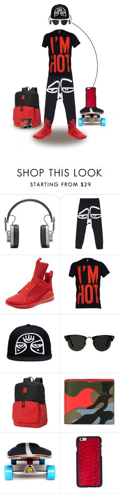 """""""Young Man..."""" by maryv-1 ❤ liked on Polyvore featuring Master & Dynamic, Puma, Moschino, Ace, Valentino, Felony Case, men's fashion and menswear"""