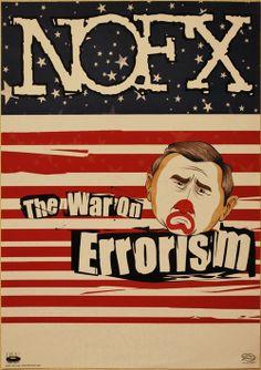 NOFX, The War on Errorism, póster limpio de gira