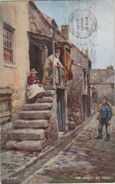 St. Ives, the Digey (vintage postcard, c.1951)
