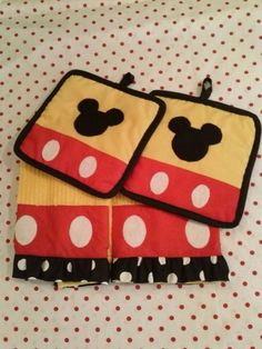 Mickey+Mouse+Kitchen+Dish+Towel+Set+by+BetsysBabyBoutique19,+$40.00