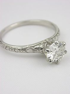 Kendal Orange Blossom Antique Engagement Ring.
