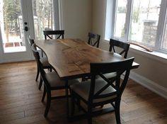 Tree Green Team Live Edge Harvest Table Wood Slab Furniture