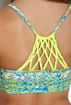 Low Impact- Tie-Dye Macrame Sports Bra | FOREVER21 - 2000085683 #workout top
