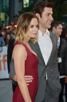 like hair cut and color. emily blunt