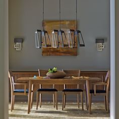This triptic pendant from Hubbardton Forge comes in a dark smoke finish Dining Pendant, Kitchen Chandelier, Linear Chandelier, Dark Smoke, Dining Room Lighting, Wall Sconces, Lighting Design, Home Decor, Room Lights