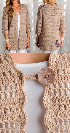 weibliche-weste-muster-stricken-stricken-baby-weste-muster-hakeln-baby-bella/ - The world's most private search engine Diy Crochet Sweater, Crochet Coat, Crochet Jacket, Crochet Blouse, Crochet Clothes, Crochet Baby, Knitted Baby, Knit Vest, Crochet Bolero Pattern