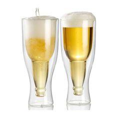 doppelwandiges Bierglas in umgedrehter Flaschenform: http://cocktail-glaeser.de/set/doppelwandiges-bierglas-umgedrehter-flaschenform/