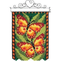 Herrschners® Butterfly Flutter Beaded Banner Kit