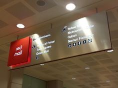 Yet to be changed internal signage in Metrocentre's Red Mall (11 Jul 2013). Photograph by Graham Soult