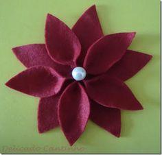 flor de pascua fieltro