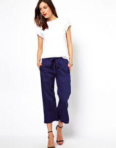shopstyle.com: ASOS Wide Leg Culotte Pants