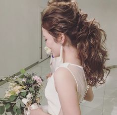 Dress Hairstyles, Wedding Hairstyles For Long Hair, Party Hairstyles, Bride Hairstyles, Wedding Party Hair, Bridal Hair, Bride Makeup, Hair Makeup, Hair Arrange