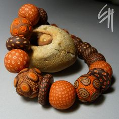 Polymer clay jewellery ...whenever I use brown color, it cant go wrong...my favourite colour...