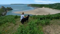 The glorious Three Cliffs Bay, Gower by Claire_Sambrook, via Flickr