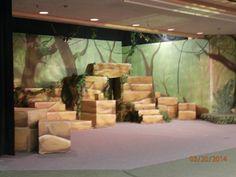 Idea for monkey city temple entrance. Also leafy canopy.   Jungle ...