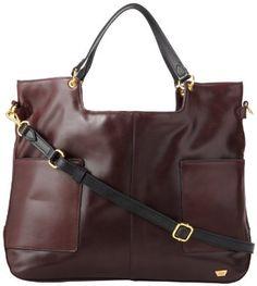Bordeaux leather handbag