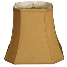 "RoyalDesigns 17"" Timeless Silk Square Lamp Shade Color:"