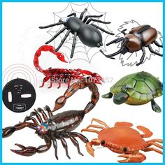 Infrared simulation funny remote control animals rc scorpion spider nail crab tortoise juguetes que caminan gift toy for boy
