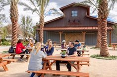 A perfect space to gather. Our mission is to make beautiful, comfortable destinations for our guests to enjoy. Take a seat! #glamping #travel  📍The Barn Pavilion — at Flying Flags RV Resort & Campground in #California