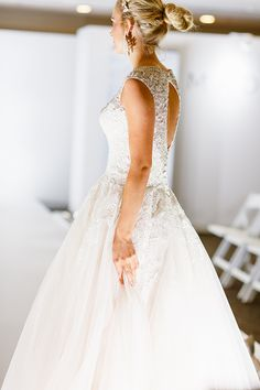 The details on this Allure Bridal wedding gown are stunning.