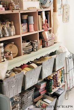 Amazing organization of craft supplies! #studio #workspace