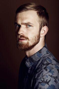 Handsome Blonde Bearded Man