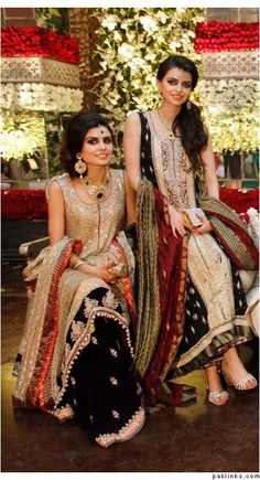 Pakistani fashion, like the colour scheme : ) Pakistani Bridal Couture, Pakistani Wedding Outfits, Pakistani Dresses, Indian Dresses, Indian Outfits, Emo Outfits, New Dress Collection, Traditional Fashion, Traditional Dresses