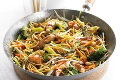 This chow mein recipe BBC Good Food is a good for your dinner made with wholesome ingredients! Bbc Good Food Recipes, Dinner Recipes, Cooking Recipes, Healthy Recipes, Healthy Dishes, Meal Recipes, Fodmap Recipes, Stir Fry Recipes, Tzatziki Sauce