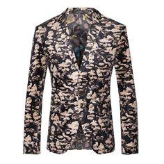2016 nouvelle coréen Style marque vêtements hommes costume décontracté robe de mariée Slim Fit veste Camouflage motif M ~ 3XL dans Blazers de Accessoires et vêtements pour hommes sur AliExpress.com   Alibaba Group
