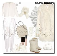 """Snow Bunny / Stella McCartney"" by emperormpf ❤ liked on Polyvore featuring STELLA McCARTNEY, Dsquared2, Revlon, Overland Sheepskin Co., Eve Snow and Bloomingdale's"