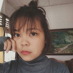Decide to make bangs! Asian short hair bangs.