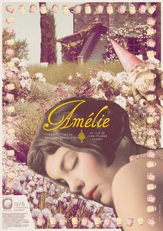 I love this vintage-looking poster of Amelie Poulain /Audrey Tautou Amelie, Audrey Tautou, Great Films, Good Movies, Love Movie, Movie Tv, Destin, Alternative Movie Posters, Film Books