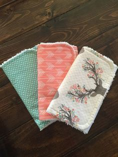 Hey, I found this really awesome Etsy listing at https://www.etsy.com/listing/262181650/modern-burp-cloths-baby-deer-head