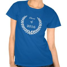 Silver Laurel Wreath Class 2016 Tee Shirt by Sand Creek Ventures. Change the class year to any that you want.