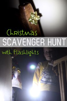 Christmas Flashlight Scavenger Hunt for Kids