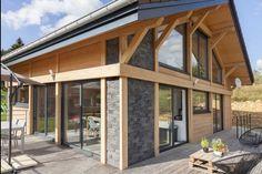 Myotte Duquet architecture bois, Douglas et Pierre dans le Haut-Jura