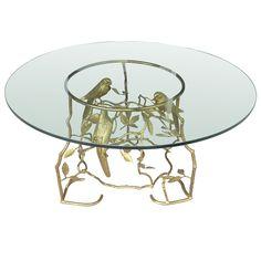 1stdibs.com | Bronze Coffee Table with Birds