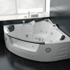 Bathroom Decor - Bathroom Decor and Models Bathroom Tub Shower, Master Bathroom, Relax, Orange Walls, Whirlpool Bathtub, Led Licht, Jacuzzi, Corner Bathtub, Indoor