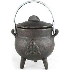 """Small Triquetra Cast Iron Cauldron - 3"""" $19.00    #pagan #cauldron #cauldrons #potion #potions #wicca #wiccan #newage #paganism #castiron #pentacle #pentagram #witch #witchcraft #brew #brews #brewing #charmed #triquetra"""
