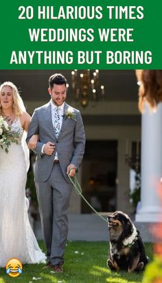 Your wedding day. A magical gathering of friends and family, together to celebrate the love between you and your other half. It's beautiful, it's heartwarming, and oftentimes, it's also pretty silly.