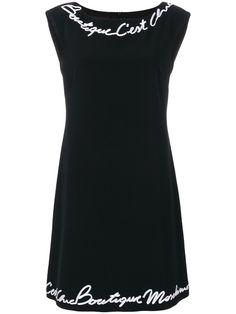 BOUTIQUE MOSCHINO BOUTIQUE MOSCHINO - LOGO EMBELLISHED SLEEVELESS DRESS . #boutiquemoschino #cloth #