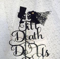 Till Do Us Part Cake Topper Skull Decorations Mr And Mrs Custom Colors Wedding