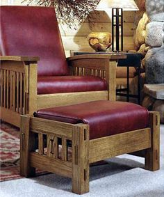 Stacey Kroese saved to and Crafts Morris Chair Woodworking Plan - Product Code 10 Beautiful Wooden Furniture Plans You Can Create Yourself Arts And Crafts Interiors, Arts And Crafts Furniture, Arts And Crafts House, Furniture Projects, Furniture Plans, Diy Furniture, Wood Projects, Woodworking Projects That Sell, Woodworking Furniture