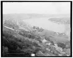 Up the Ohio from Mt. Adams, Cincinnati, Ohio; c. 1890-1910