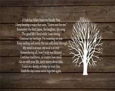 A Limb Has Fallen From Our Family Tree Wood Sign or Canvas Wall Decor - Sympathy Gift, Christmas Gift, Family, Parent Memorial, - Heartland Canvas and Signs