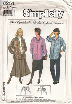 Simplicity 8251 Maternity Adjustable Waist Circle by CedarSewing