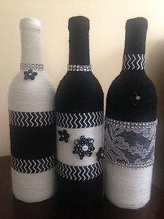 Noir et Blanc Remarkable Vases by HeavenlyChicDesigns on Etsy