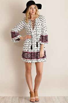 BOHO Bombshell Dress - Anchored Hope Boutique  -