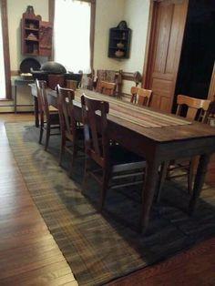 I Love The Long Narrow Dining Table!